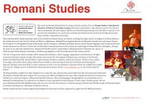 Romani Studies Curriculum